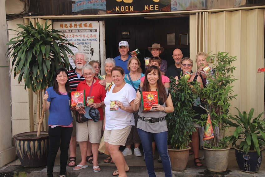 Relaxasia Tour Group with coffee purchase