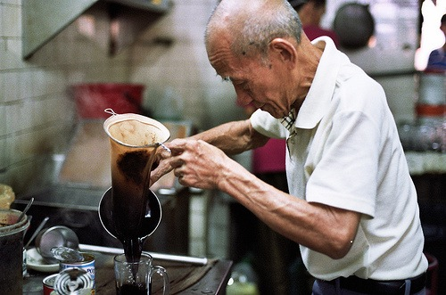 making Kopi in Penang