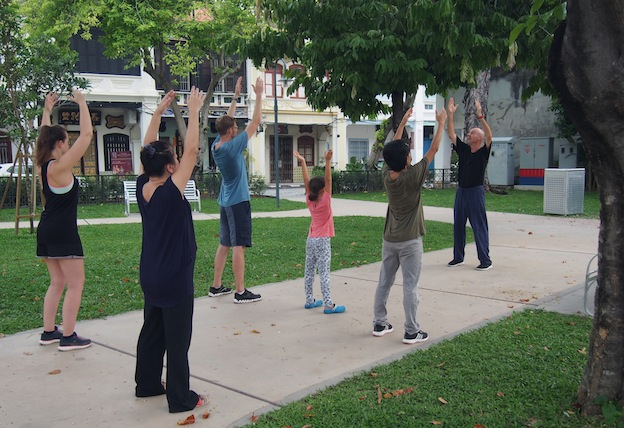 Tai Chi Penang, Armenian Park Tai Chi, Early Morning Tai Chi