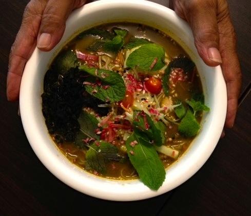 Laksa at ie Organic Pulau Tikus, Vegetarian Laksa in Penang, Spicy Laksa at IE Organics Pulau Tikus