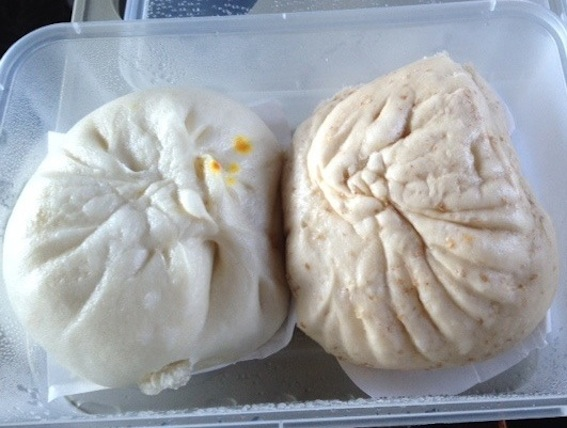 Bao meal on Aeroline, Food on Bus Penang to Kuala Lumpur