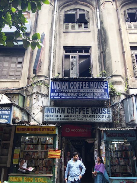 Front View Indian Coffee House Kolkata, College St Coffee House Kolkata, Heritage Coffee House, Albert Hall, Kolkata