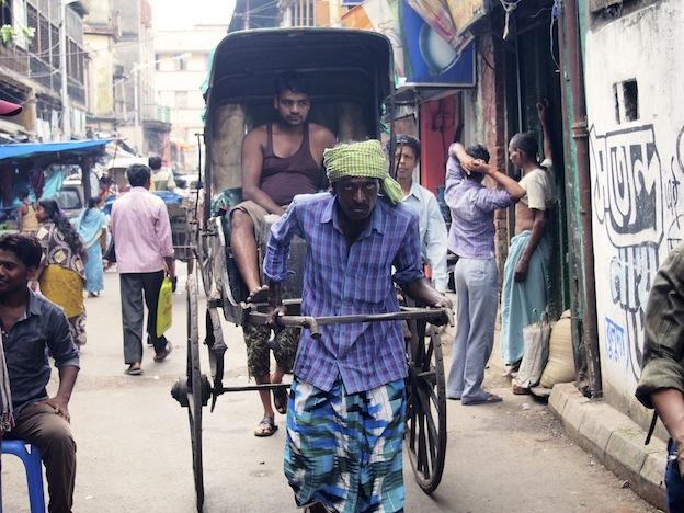 Rickshaws in Kokata. Kolkata Streets