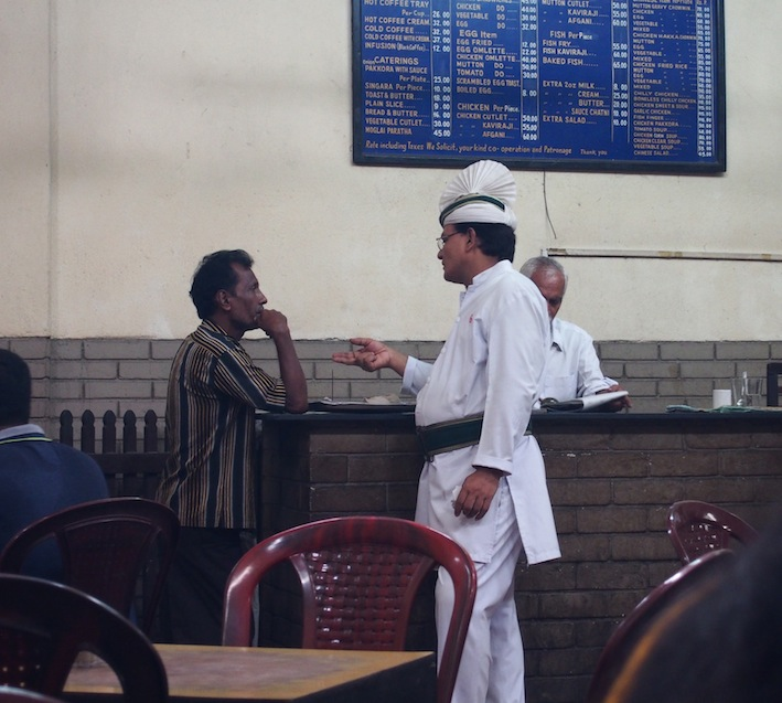 Serviette style Turban, Waiter at Indian Coffee House, Kolkata
