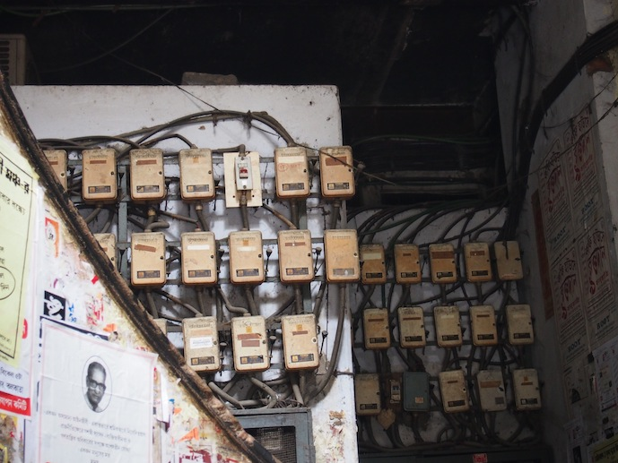 Old Power Board, Electricity in Kolkata, Indian Coffee house powerboard