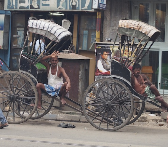 Rickshaw Pullers from Bihar India,