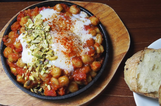 VCR Turkish Eggs, Chickpea dish at VCR K.L.