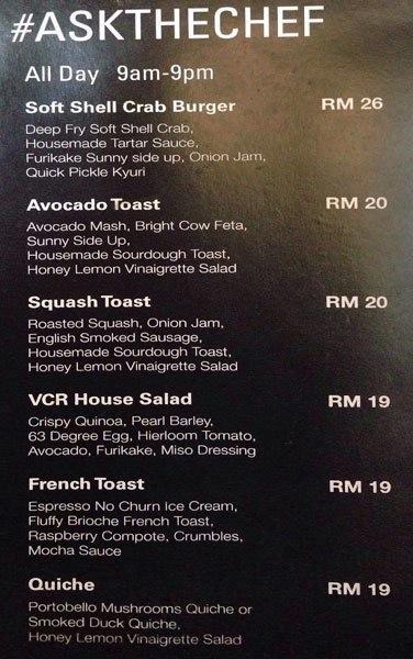 Turkish Style Eggs VCR, VCR Kuala Lumpur, Raspberry Sorbet, Brioche French Toast,