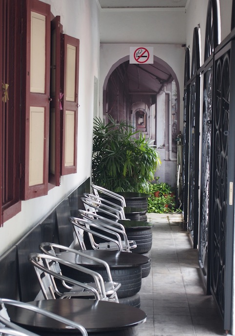 Five Foot Way Guang Seang Cafe Armenian St Georgetown, Bicycle on the wall Georgetown, Guan Seang Trading Cafe