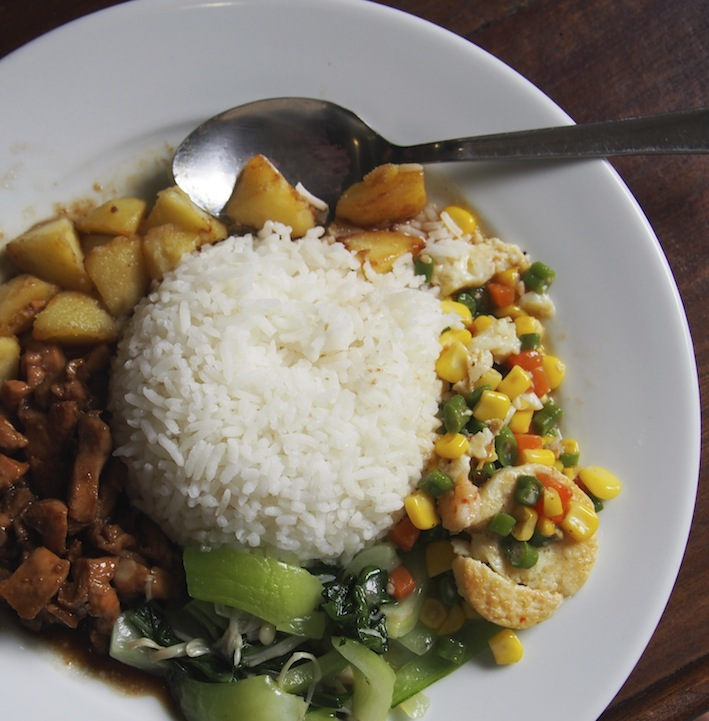 Chicken, Potato & Veg Lunch on Merdeka Day 2016