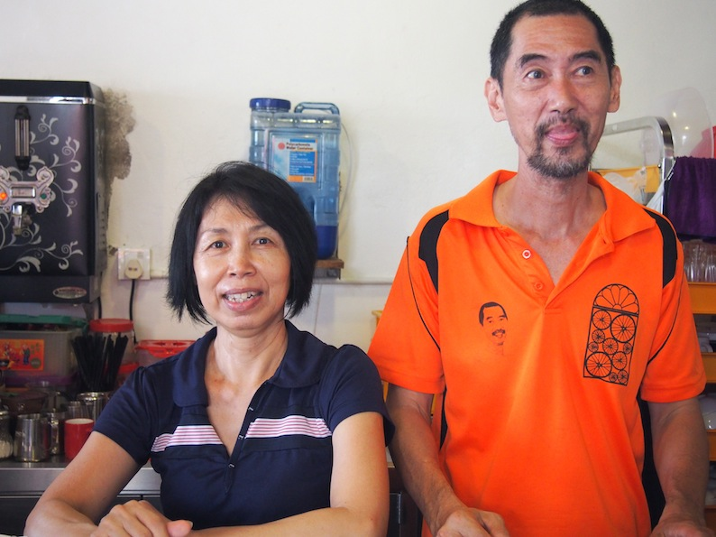 Helen & Chew, Guang Seang Cafe Armenian St, Owners of Guan Seang Cafe
