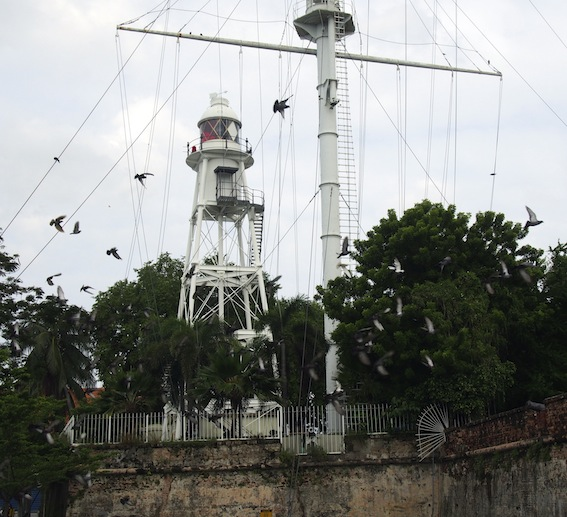 Lighthouse Fort Cornwallis Penang,ships Mast Lighthouse Fort Cornwallis Penang
