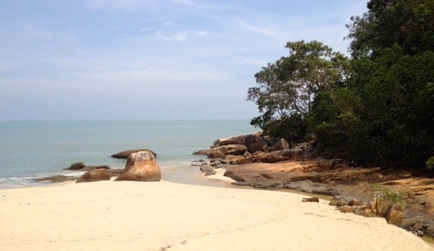Pristine Beach at Pantai Kerachut,Penang National Park,Smallest national Park in Asia